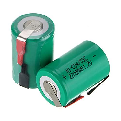 2-20 Piezas 4 / 5SC NI-CD batería 1,2 V 2200 mah Sub C batería Recargable para Destornillador DIY Taladro eléctrico Linterna SUBC Battries 8pcs