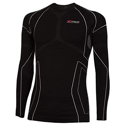 Xtech Base Layer Race3 Long Sleeve Round Neck, Black - Noir, L/XL