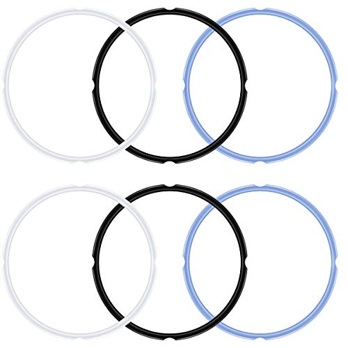 ANPHSIN 6 Pieces Instant Pot's Sealing Ring for 6 qt 5qt Pot- Instant Pot Accessories Fits IP-DUO60, IP-LUX60, IP-DUO50, IP-LUX50, Smart-60, IP-CSG60 and IP-CSG50
