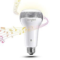 Une qualité de son surprenante : L'ampoule LED Solo A66 équipée de deux haut-parleurs JBL stéréos diffuse un son plus clair et plus net que la plupart des autres ampoules Bluetooth du marché. Même avec un volumen élevé et l'accentuation des basses vo...