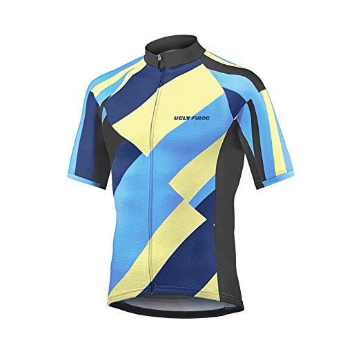 Future Sports Uglyfrog Designs Bike Wear Nuovo colletto Hombre Verano Cycling Jersey Maillot Ciclismo Mangas Cortas Camiseta de Ciclistas Ropa Ciclismo Estilo de Verano Absorbe la Humedad