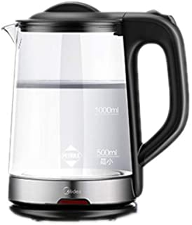 LJBH Electric Kettle, Borosilicate Glass Kettle, 1800W, 1.7L Fast Boiling Water Heater, Automatic Closing Protection/Black...