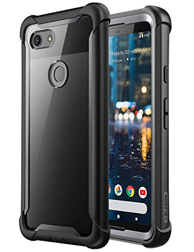 i-Blason Ares Full-Body Rugged Clear Bumper Case for Pixel 3 2018 Release, Black
