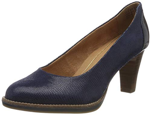 Tamaris Damen 1-1-22425-24 Pumps, Blau (Royal Struct. 858), 39 EU