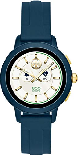 Tory Burch TBT1002 Navy Silicone Band Touchscreen Smartwatch