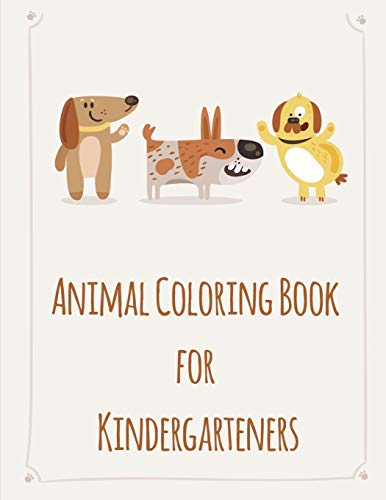 Animal Coloring Book For Kindergarteners: picture books for children ages 4-6 (Sport animals, Band 7)