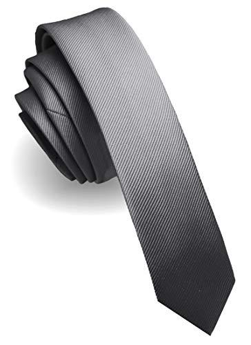JEMYGINS Krawatte Grau Krawatten für Herren seide schmale Hochzeit Schlips (8)