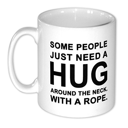 Close Up Hug Kaffee Tasse Some People Just Need A Hug aus Keramik ca. 250 ml