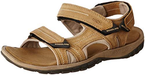 Woodland Men's Camel Leather Sandal-7 UK (41 EU) (GD 2185116CMA)