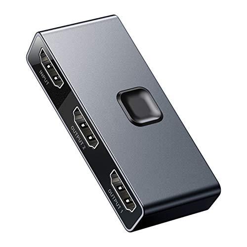 LYY Interruptor HDMI 4K 60Hz HDMI Switcher 2 Puertos Bi-Direction 1X2 / 2X1 Adaptador 2 en 1 de Cada convertidor de HDMI Adecuado para PS4 Pro / 4/3 Caja TV