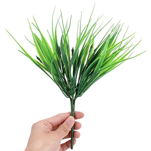 Asoaso Szs Artificial Outdoor Plants Fake Plastic Greenery Grass Filler Indoor Home House Garden Office - Rustic Desktop Decor Cherry Ferns Mini Nerly Boxwood Real Cotton Yucca P