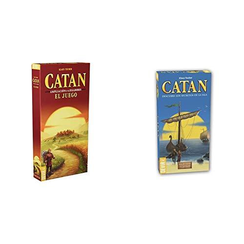 Devir - Catan, Juego de Mesa - Ampliación para 5 y 6 Jugadores (BGCATAN56) + Catan, Navegantes (BGNAV56) - Ampliación para 5 y 6 Jugadores