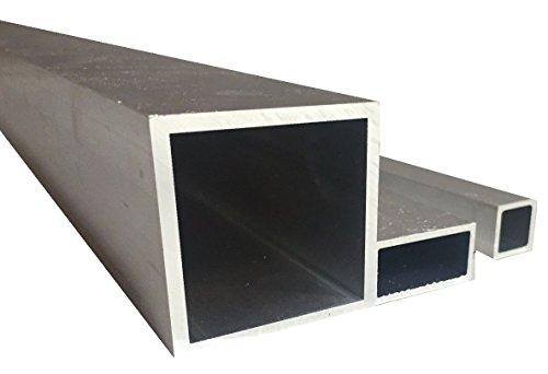 Tubo cuadrado de aluminio (20 x 20 x 2 x 1500 mm)