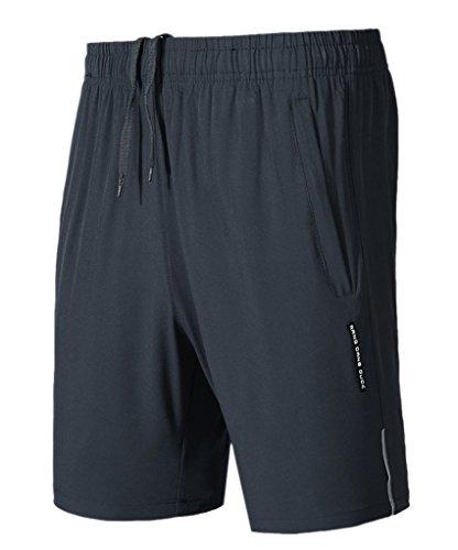 Geval Shorts de Course à Pied Respirant pour Hommes Quick Dry S Gris foncé