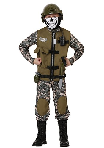 Kids Camo Trooper Costume Tactical Vest Camouflage Army Costume Child Medium