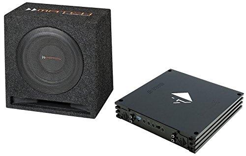 Helix Bass pakket 25 cm. Bassreflex subwoofer MW 10 E 600 Watt en BTWO 2-kanaals eindversterker