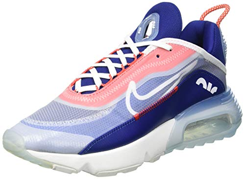 Nike Air MAX 2090, Zapatillas Deportivas Hombre, White Chile Red Deep Royal Blue White, 43 EU
