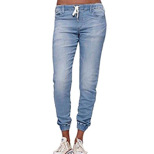 jeans donna jogger Colore Solido Jeans A Vita Media