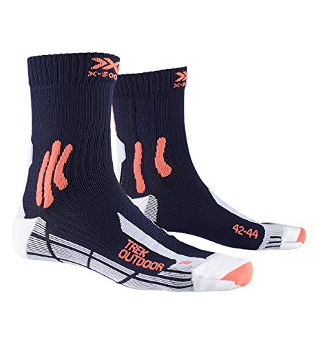 X-Socks Socks Trek Outdoor, Midnight Blue/Kurkuma Orange, 42-44, XS-TS13S19U-A046-42/44