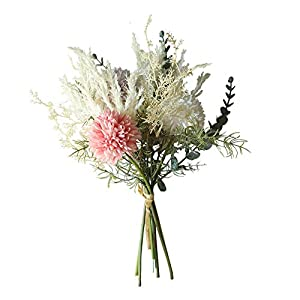Artificial and Dried Flower Style Simulation Bouquet Flowers Artificial Rose Flowers Simulation Camellia Flowers Bouquet Home Decor for Wedding Decor