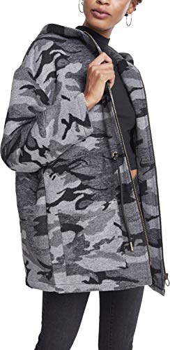 Urban Classics Damen Ladies Oversize Camo Parka, Mehrfarbig (Darkcamo 00707), Medium