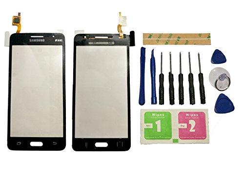 Flügel para Samsung Galaxy Grand Prime G531 SM-G531 SM-G531F Pantalla de Cristal Táctil touchscreen glass display Negro( Sin LCD)de Recambio & Herramientas