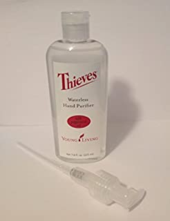 Thieves Waterless Hand Purifier Young Living 7.6 Oz Plus Pump EssentialOilsLife Essential Oils by Young Living