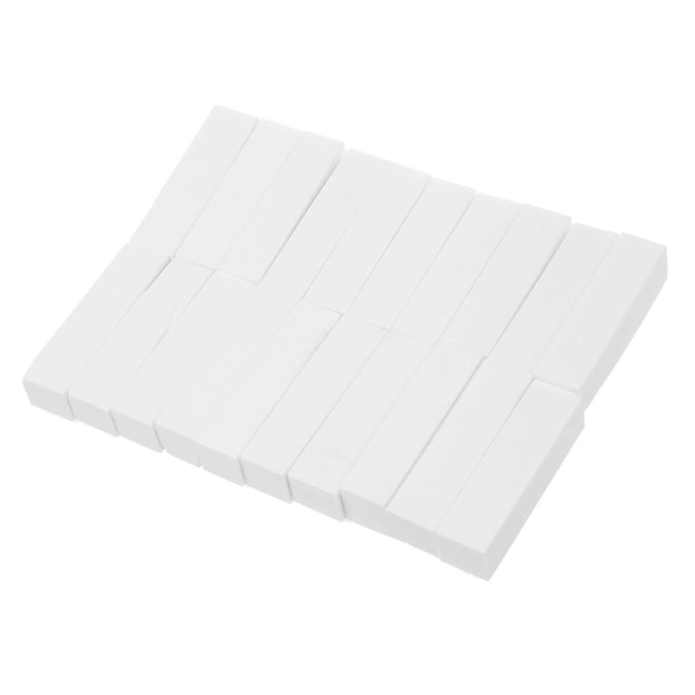おびえたライセンス貨物SODIAL(R) 20個 ホワイトバッファーバフサンディングファイル ブロックペディキュアマニキュア ネイルアートケアクリスマスギフト