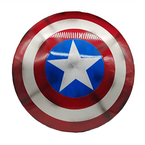 sookin Captain America KostüM Metallschild Captain Retro America Kopie Cosplay Requisiten Soldat Anzug Halloween füR Erwachsene und Kinder Junge Rollenspiel Spielzeug Superheld Dress A