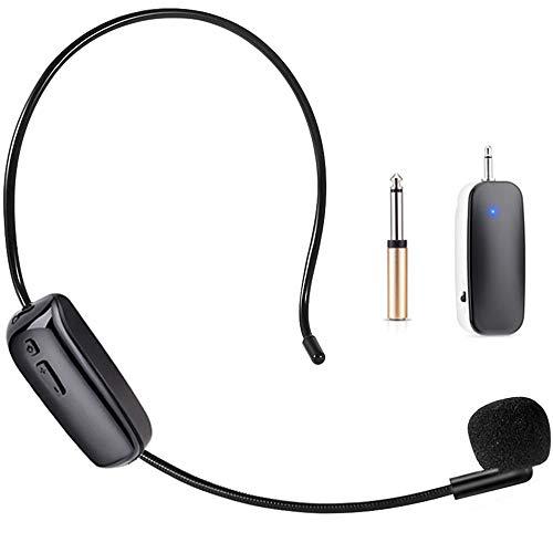 UHF Wireless Microphone Headset, Joso Wireless Mic System, 160ft Range,...