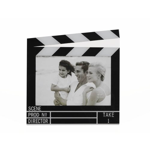HAB & GUT -FR011- Bilderrahmen Filmklappe 14,5 x 9,5 cm Movie
