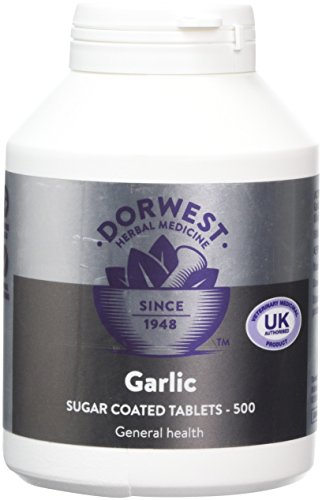 DORWEST HERBS Garlic Tablets for Dogs and Cats 500 Tablets