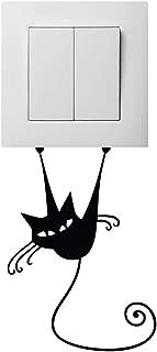 Huetis Vinyl Decal Quote Art Wall Sticker Mirror Decal Kitty Light Switch Sticker