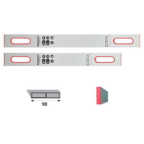 Preisvergleich Produktbild 2er Set DEWEPRO® Alu Richtlatte - Setzlatte - Abziehlatte - Putzlatte mit 2 Handgriffe - Längen: 150cm (1, 5m) + 200cm (2, 0m)