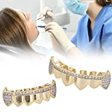 Juego de dientes Grillz de Hip Hop, decoración de dientes para fiesta de Halloween, espectáculo de hip hop, dientes Grillz para juegos de cuidado dental bucal