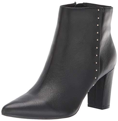Bandolino Womens Zoila Leather Pointed Toe Ankle Fashion Boots, Black, Size 10.5