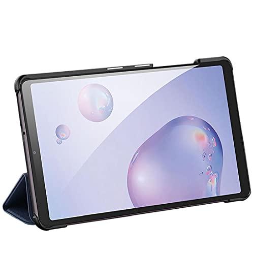 Tuimiyisou El Caso es Compatible con Galaxy Tab Samsung, con la Caja de protección de Dos vías de Tres Veces Soporte Azul a Prueba de Golpes 8.4 Pulgadas
