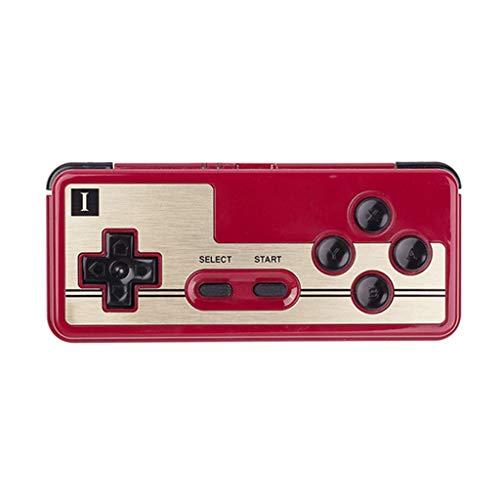 Contrôleur de jeu vidéo Adaptateur d'arcade rétro contrôleur de PC Application multiplateforme Manette de Jeu Bluetooth (Color : Red, Size : 12.4 * 5.3 * 1.6cm)