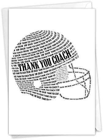 NobleWorks Football Helmet Thank You Card for Football Coach Thankful Gratitude from Sports product image
