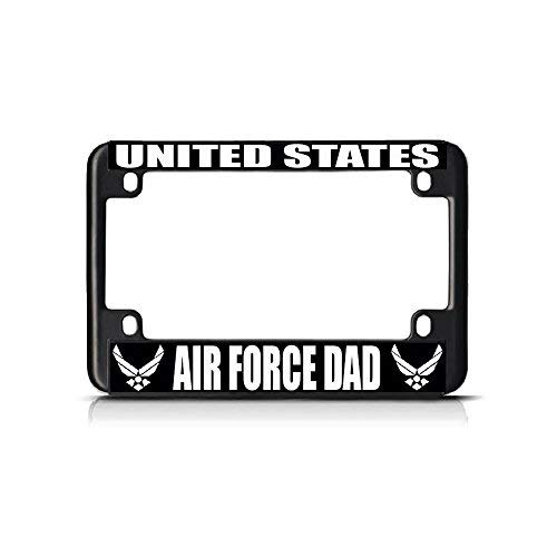Metal Auto License Plate Frame Car Tag Holder United States Air Force Dad Black Metal Bike Motorcycle License Plate Frame Tag Perfect For Men Women Car Garadge Decor