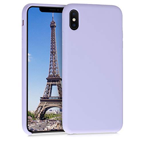 kwmobile Hülle kompatibel mit Apple iPhone XS Max - Hülle Handyhülle gummiert - Handy Hülle in Pastell Lavendel