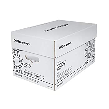 Office Depot White Copy Paper 8 1/2in x 11in 20 Lb 500 Sheets Per Ream Case of 10 Reams 40402786