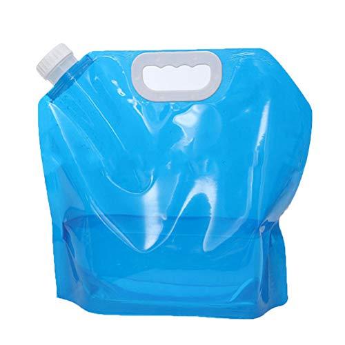 Faltbare Gießkanne Tragbar Trinkwasser Wasserbehälter Wassertank Wasserspeicher für Camping, Outdoor, Wandern, Angeln, Reisen(Blau)