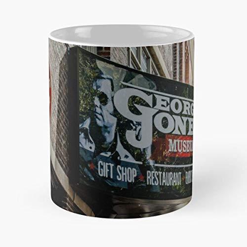 George Jones Signage Nashville - La migliore tazza da caffè in ceramica di marmo, colore: bianco