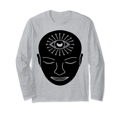 Visage du chakra du troisième œil Manche Longue