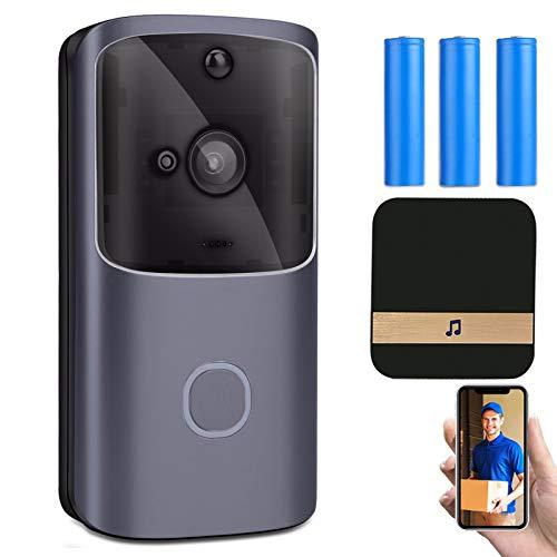 HSTD WiFi Video Doorbell Camera, Wireless Doorbell Camera with Chime,...