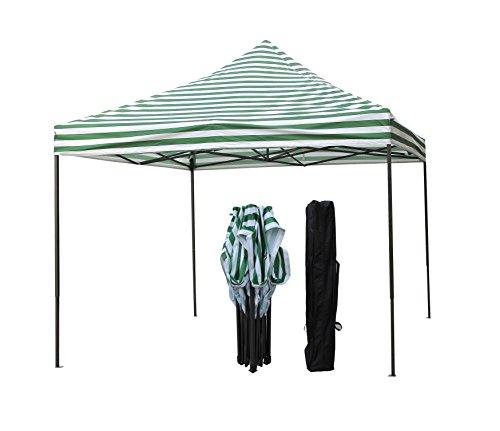 All Seasons Gazebos 2.5 x 2.5m Heavy Duty, Fully Waterproof Pop up Gazebo (Green Stripes)