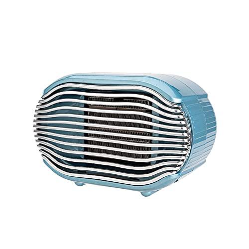Ruiqas Calentador de espacio de cerámica de invierno mini calentador portátil con termostato ajustable para uso en la casa dormitorio oficina