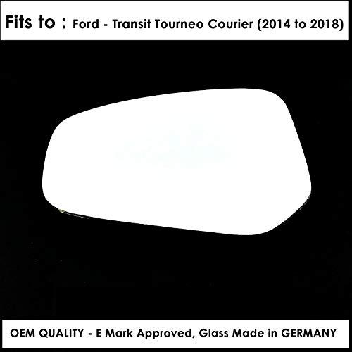Espejo retrovisor convexo para puerta izquierda para FRD-Transit Tourneo Courier Año 2014 a 2018