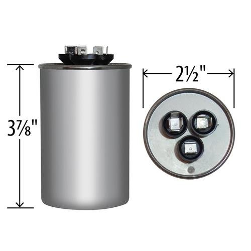GE Genteq Capacitor round 45//7.5 uf MFD 440 volt 97F9883 45 7.5 MFD at 440 volts replaces old GE# 97F9883BX /& 97F9883BZ2